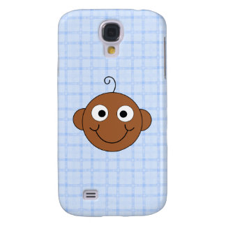Cute Baby Boy. Blue Check Background. Galaxy S4 Covers