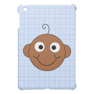 Cute Baby Boy Blue Check Background Cover For The iPad Mini