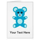 Cute Baby Boy Blue Teddy Bear Greeting Card