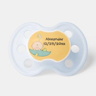 Cute Baby Boy Cartoon Umbrella Booties Rubber Duck Pacifier