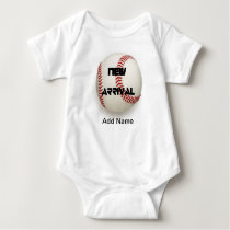 Cute Baby Boy Clothes Baseball Custom Onsies Baby Bodysuit