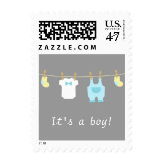 Cute Baby Boy Clothes, Its a boy Stamp