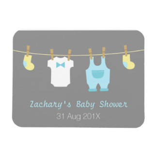 Cute Baby Boy Clothes On Clothes Lines Magnet