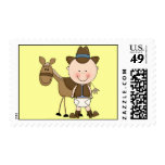 Cute Baby Boy & Horse Pony Custom Western Postage Stamps