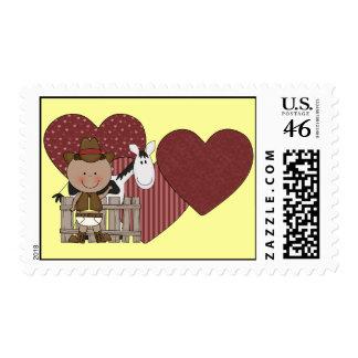 Cute Baby Boy Horse Pony Custom Western Postage Stamp
