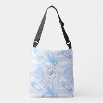 Cute Baby Boy Monogrammed Pattern Crossbody Bag