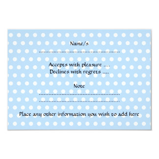 Cute Baby Boy, on blue polka dot pattern. 3.5x5 Paper Invitation Card