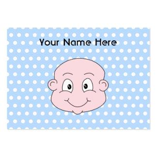 Cute Baby Boy, on blue polka dot pattern. Large Business Card