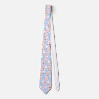 Cute Baby Boy, on blue polka dot pattern. Neck Tie