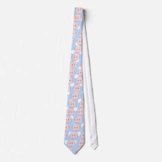 Cute Baby Boy, on blue polka dot pattern. Neck Tie