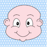Cute Baby Boy, on blue polka dot pattern. Acrylic Cut Out