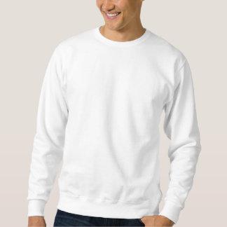 Cute Baby Boy, on blue polka dot pattern. Pullover Sweatshirt