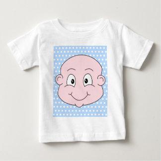 Cute Baby Boy, on blue polka dot pattern. T-shirt