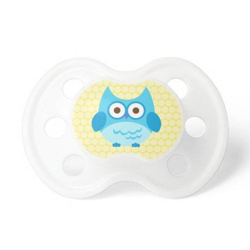 cute baby boy owl pacifier zazzle