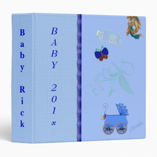 Cute Baby Boy Photo Album, 1st Year, Shower Binder