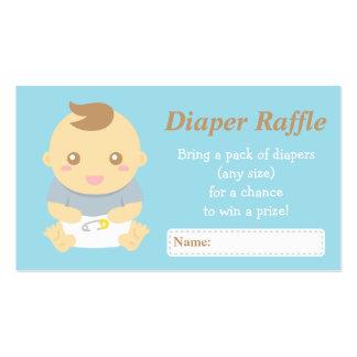 Cute Baby Boy Shower Grey Diaper Raffle Tickets Business Card