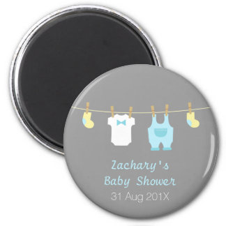 Cute Baby Boy Shower Party Favors 2 Inch Round Magnet
