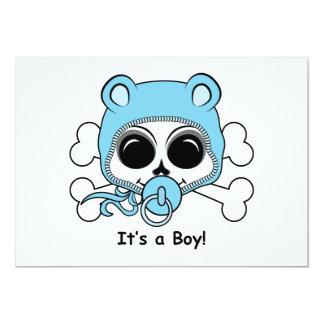 Cute Baby Boy Skull Card