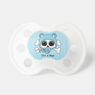 Cute Baby Boy Skull Pacifier