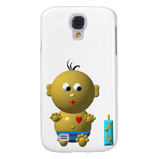 Cute baby boy with heart samsung galaxy s4 cover