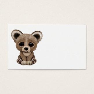 Cute Baby Brown Bear Cub Business Card