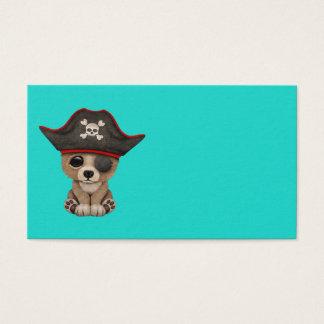 Cute Baby Brown Bear Cub Pirate Business Card