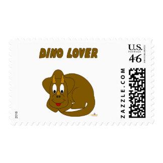 Cute Baby Brown Dinosaur Dino Lover Postage