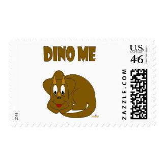 Cute Baby Brown Dinosaur Dino Me Postage Stamps