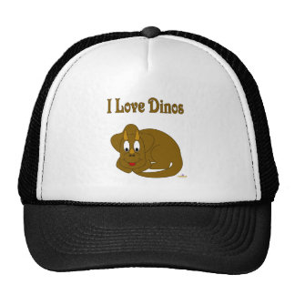 Cute Baby Brown Dinosaur I Love Dinos Trucker Hat