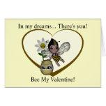 Cute Baby Bumble Bee Honey Heart 1 Greeting Card