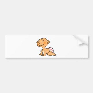 Cute baby bumper sticker