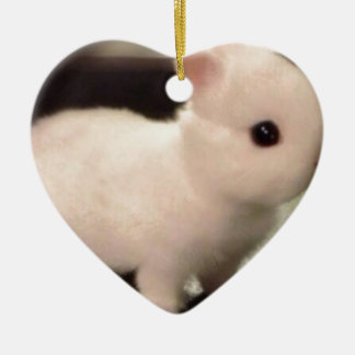 Cute baby bunny ceramic ornament