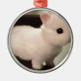 Cute baby bunny metal ornament