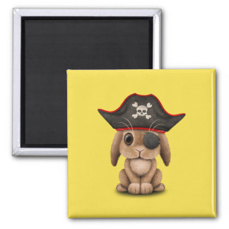Cute Baby Bunny Pirate Magnet