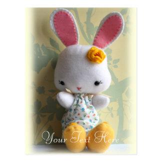 Cute Baby Bunny Plush Customizable Postcard