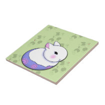 Cute Baby Bunny Rabbit Easter Tile