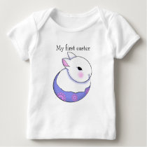 Cute Baby Bunny Rabbit My First Easter Baby T-Shirt