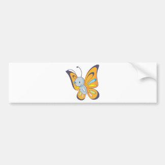 Cute Baby Butterfly Cartoon Bumper Sticker