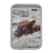 Cute Baby Calf, Farmyard Animal Mini iPad Sleeve