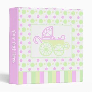 Cute Baby Carriage Binder