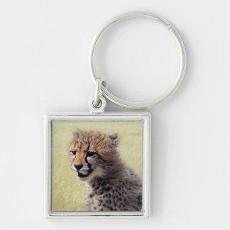 Cute baby Cheetah Cub Keychain