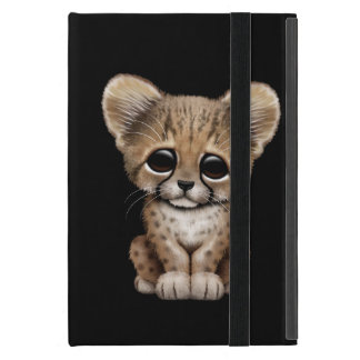 Cute Baby Cheetah Cub on Black iPad Mini Case