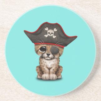 Cute Baby Cheetah Cub Pirate Coaster