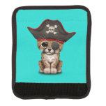 Cute Baby Cheetah Cub Pirate Luggage Handle Wrap