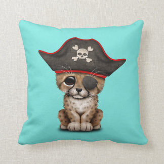 Cute Baby Cheetah Cub Pirate Throw Pillow