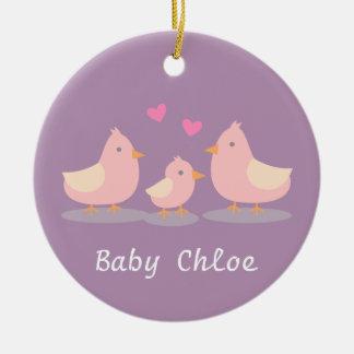 Cute Baby Chick Bird Family Baby Girl Room Decor Ceramic Ornament