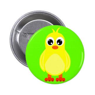 Cute Baby Chick Cartoon Button