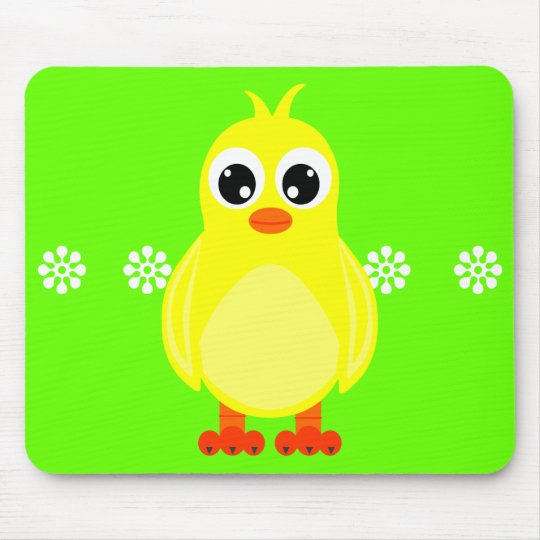 Cute Baby Chick Cartoon Mouse Pad