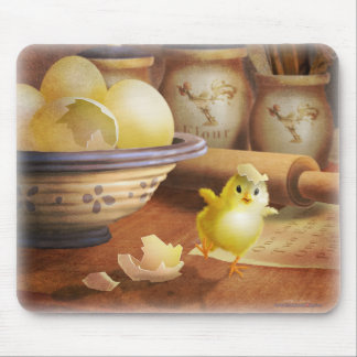 Cute Baby Chick Escaping Fate Mouse Pad