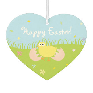 Cute Baby Chick Happy Easter Car Air Freshener
